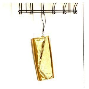 Golden Metallic Clutch